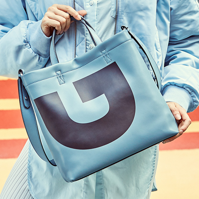 Blue Leather Bags High Quality Real Leather Bag New Fashion Briefcase Handbags Large Capacity Leather Bag Laptop Bags For Women