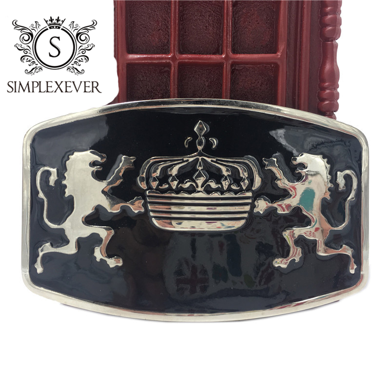 Luxury Men's Belt Buckle Men Lion Animal Pin Buckle Designer Leather Belt Buckle Drop Shipping