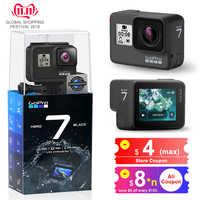 GoPro HERO7 czarna wodoodporna kamera akcji z ekranem dotykowym kamera sportowa Go Pro HERO 7 12MP zdjęcia przekaz na żywo stabilizacja