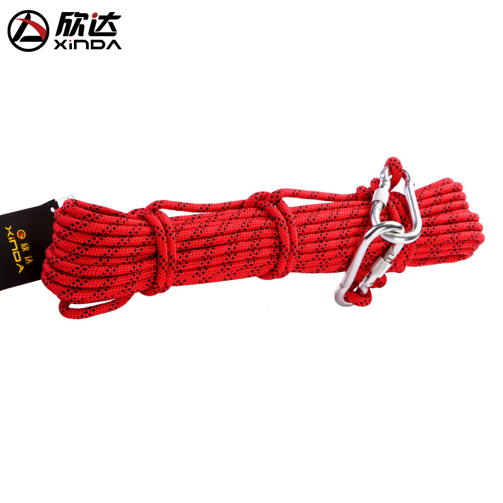 XINDA 8mm Outdoor Hiking Climbing Rope Rescue Equipment Safety Rope Open Country Survival Supplies Lifesaving Mountain Climbing