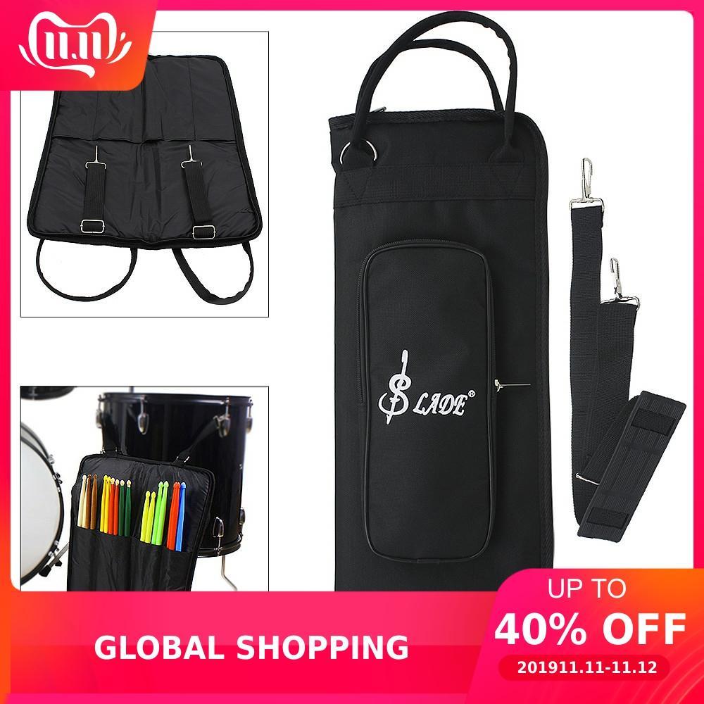 Black Oxford Cloth Drumstick Backpack Gig Bag Jazz Drum Stick Music Book Storage Case Holder Large Capacity Handbag