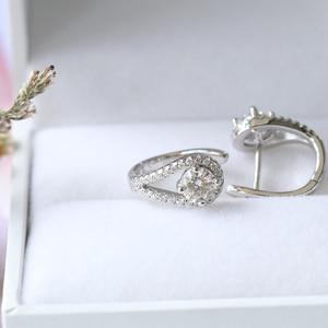 Image 2 - Doveggs sterling solid 925 prata 0.82ctw 5mm h cor centro moissanite hoop brincos para o noivado feminino