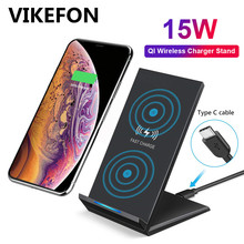 15W Qi Wireless ChargerสำหรับSamsung S9 S10 iPhone 11 Pro X XS MAXสำหรับXiaomi Mi 9 Huawei p30 Pro 10W Fast Wireless Charger Stand