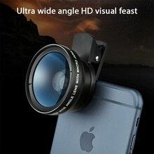 Mobile Phone Lens 0.45x Super Wide Angle 12.5x Super Macro HD Camera Lens For iPhone 12 11 8 7 6 XS Huawei Xiaomi Samsung Glass