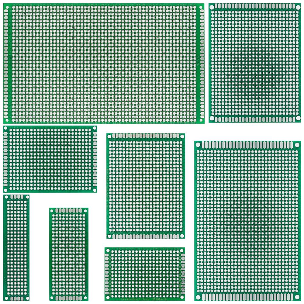 9x15 8x12 7x9 6x8 5x7 4x6 3x7 2x8 cm duplo lado protótipo diy universal circuito impresso pcb placa protoboard para arduino