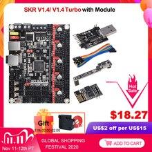 BIGTREETECH SKR V1.4 BTT SKR V1.4 плата управления турбонаддувом 32 бит Wi Fi Запчасти для 3D принтера SKR V1.3 TMC2209 TMC2208 Ender3 CR 10 обновления