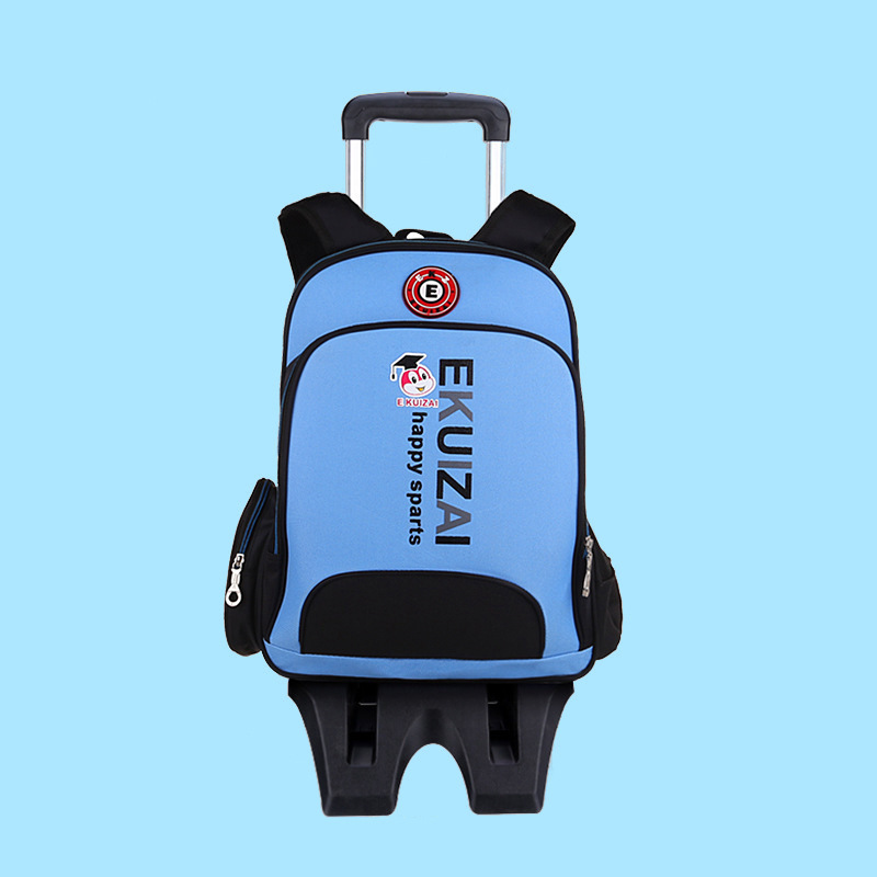 Manufacturers Wholesale Korean-style Children Trolley Bag Young STUDENT'S Men And Women Three-Wheeled Climbing Stairs Customizab
