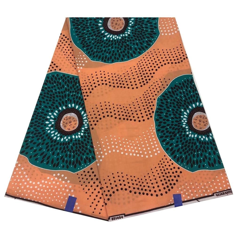 Ankara African Wax Print Fabric Cotton Nigerian Ghana Ankara Pagne Wax Materials 6 Yards African Clothing Holland Print On Sale