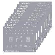 Qianli BGA Reballing Stencil Kit für Samsung Exynos CPU Hinweis 4 J 1 2 3 A9 A520 S6-S10 + NOTE8 NOTE10 IC Chip Solder Vorlage