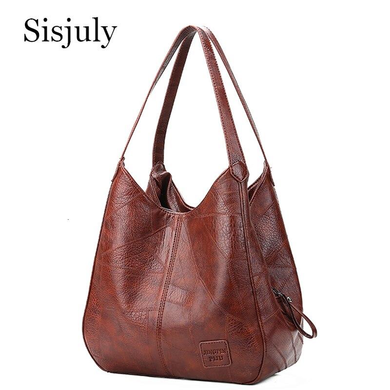 Sisjuly Hobos sacs pour femmes 2019 sacs à Main en cuir Femme sacs à bandoulière cabas décontracté pour Femme Sac souple Vintage sacs Sac a Main Femme