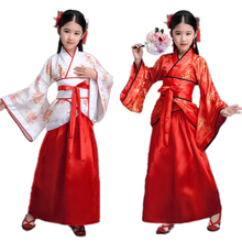 100-170CM Traditional Chinese Dress for Women Phoenix Party Embroidery Hanfu Cheongsam Dance New Year Costumes for Girl 10Colors
