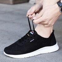Новинка; сетчатая мужская повседневная обувь; мужская обувь на шнуровке; легкие удобные дышащие Прогулочные кроссовки; Tenis masculino Zapatillas Hombre
