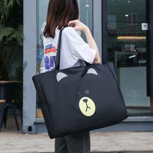Холщовая вместительная спортивная сумка портативная милая уличная