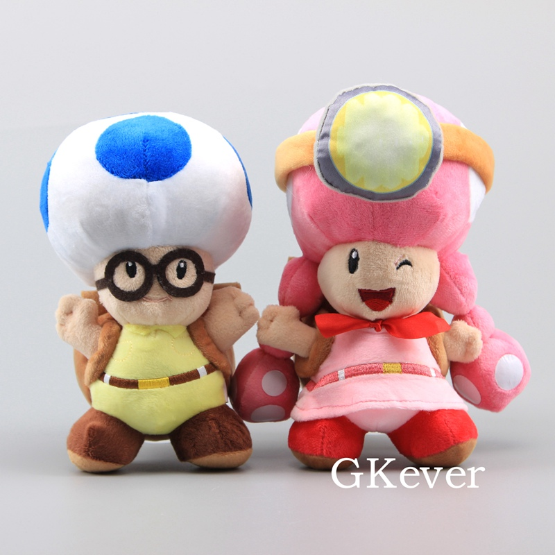 20cm Mario Mushroom Plush toys doll Mario Mushroom Toadette <font><b>Peluche</b></font> Toys Female Girl Toad and Boy Toad baby kids Gift image