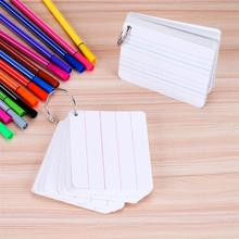 3pcs Double-sided English Word Blank Card Practical Thickened Pinyin Card for School Student (White)