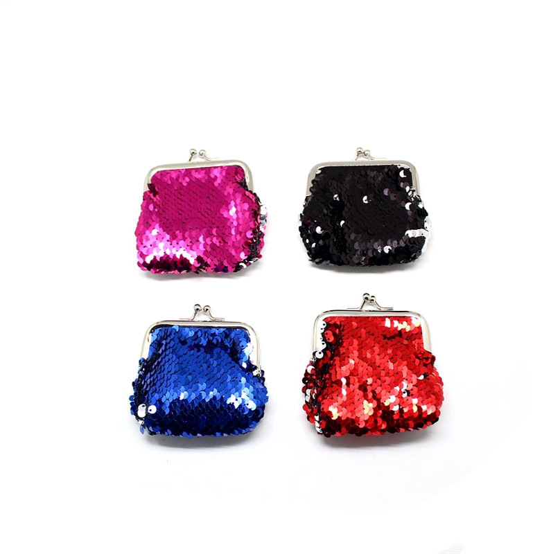 Korean-style Sequin Buckle Purse Mini Goddess Wallet Key Small Jewelry Storage Bag Women's Fashion-
