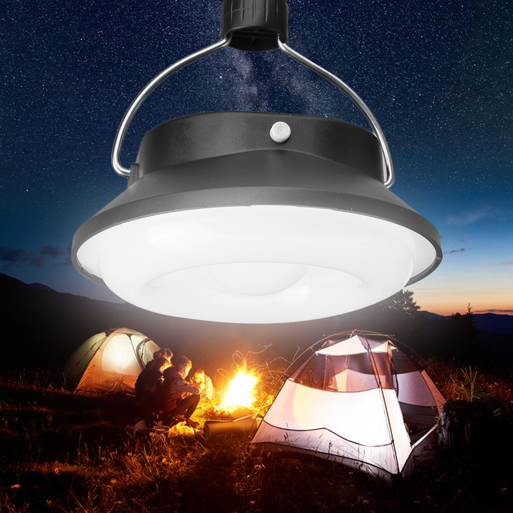 Junejour  Night Lamp 28 LED Camping Hiking Tent Light Rechargeable Outdoor Portable Solar Powered