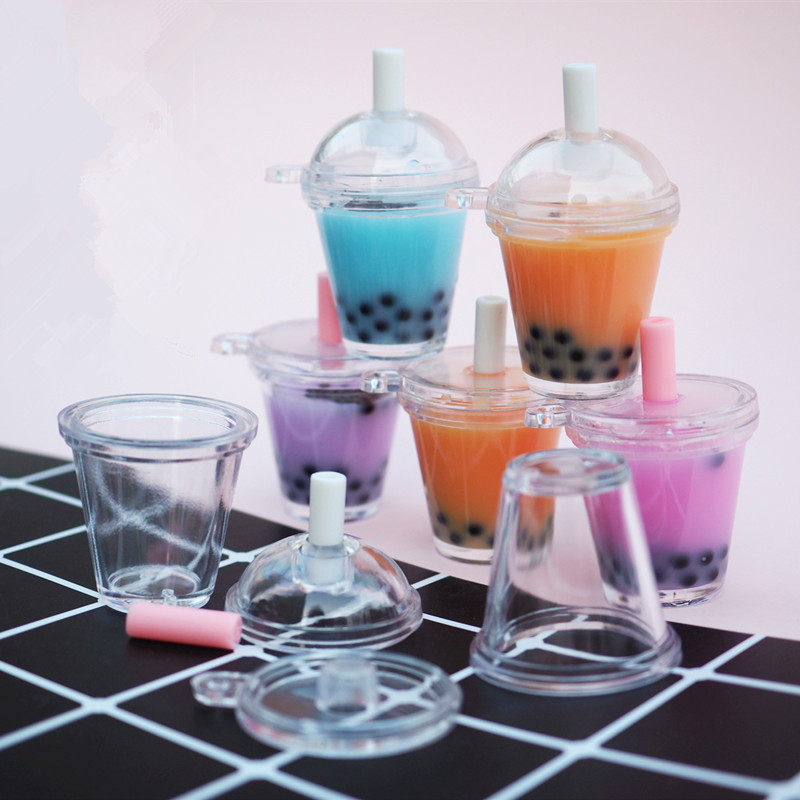 Boba Tea 3D Miniature Bubble Milk Tea Doll House Drink Cabochon Mini Food Jewelry DIY Kawaii Supplies Resin Mold Jewelry Tools