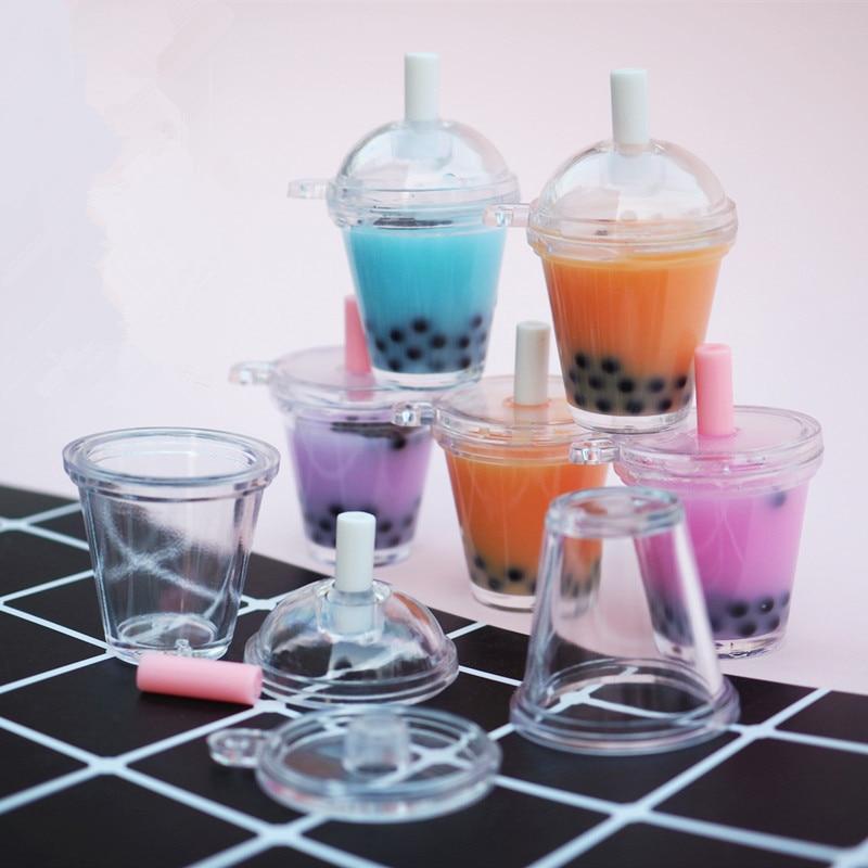 Boba Tea 3D Miniature Bubble Milk Tea Doll House Drink Cabochon Mini Food Jewelry DIY Kawaii Supplies Resin Mold Jewelry Tools