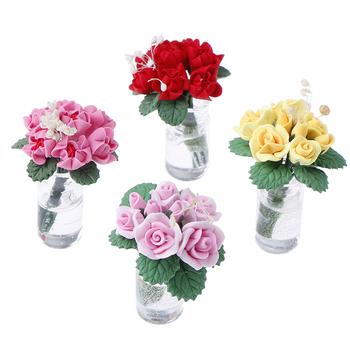 1 12 domek dla lalek miniaturowe kwiaty wróżka ozdoba ogrodowa Mini roślina doniczkowa kwiaty doniczka domek dla lalek Bonsai Model zabawka dla dzieci tanie i dobre opinie KittenBaby 2-4 lat Z tworzywa sztucznego None 3 7 * 3 * 3cm 1 5 * 1 5 * 1 2inch Dolls Garden Accessories Unisex Glass + Clay
