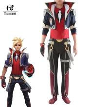 ROLECOS Battle Academia Ezreal Cosplay Costume LOL Ezreal Co