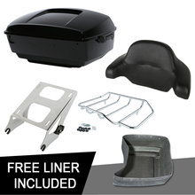 Motorcycle King Pack Trunk Pad Mount Kit For Harley Tour Pack Touring Electra Glide Road King Street Glide Road Glide 2014-2020