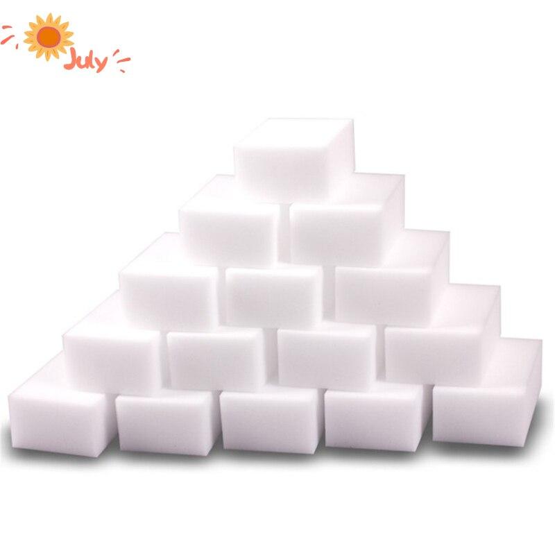 100 pçs limpeza da cozinha esponja mágica melamina esponja borracha limpador esponjas para limpeza do banheiro doméstico limpo acessórios