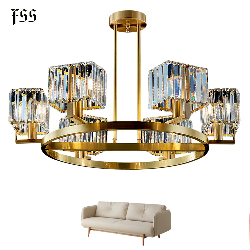 FSS Modern Luxury Crystal Chandelier Lighting For Dining Room kitchen Island Lamps Hanging Gold Led Chandeliers Indoor Lights