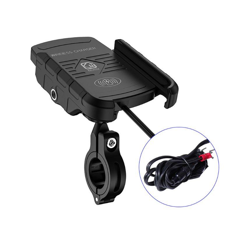 suporte carregador sem fio para motocicleta suporte de carregamento rapido para telefone e motocicleta de 12v