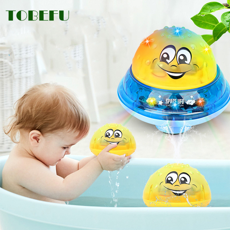 Spray Water Bath Toys Light Rotate With Shower Pool Kids Toys For Children Toddler Swimming Party Bathroom LED Light Toys Gift