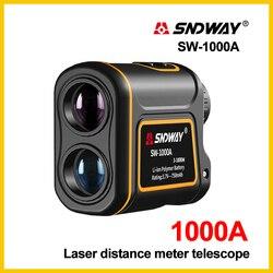 SNDWAY Laser Rangefinder Telescope 1000m Laser Distance Meter building Golf hunting laser Range Finder SW-1000A