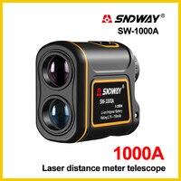 SNDWAY Laser Rangefinder Telescope 1000m Laser Distance Meter building Golf hunting laser Range Finder SW 1000A