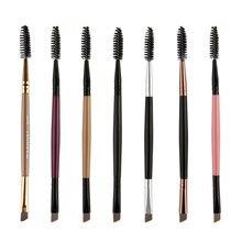 1 pçs cílios escova de sobrancelha cabeça dupla escova de pestana sobrancelha cosméticos ferramentas de beleza escova de maquiagem escovas de sobrancelha acessórios
