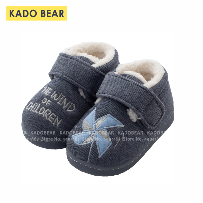 Kids Cartoon Fur Plush Winter Shoes Baby Girls Boys Home Indoor Soft Warm Slippers Children Bedroom Non-Slip Toddler Flip Flops