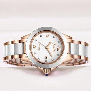 Image 2 - SUNKTA 새로운 로즈 골드 시계 여성 쿼츠 시계 숙녀 최고 브랜드 럭셔리 여성 손목 시계 소녀 시계 아내 선물 Zegarek Damski