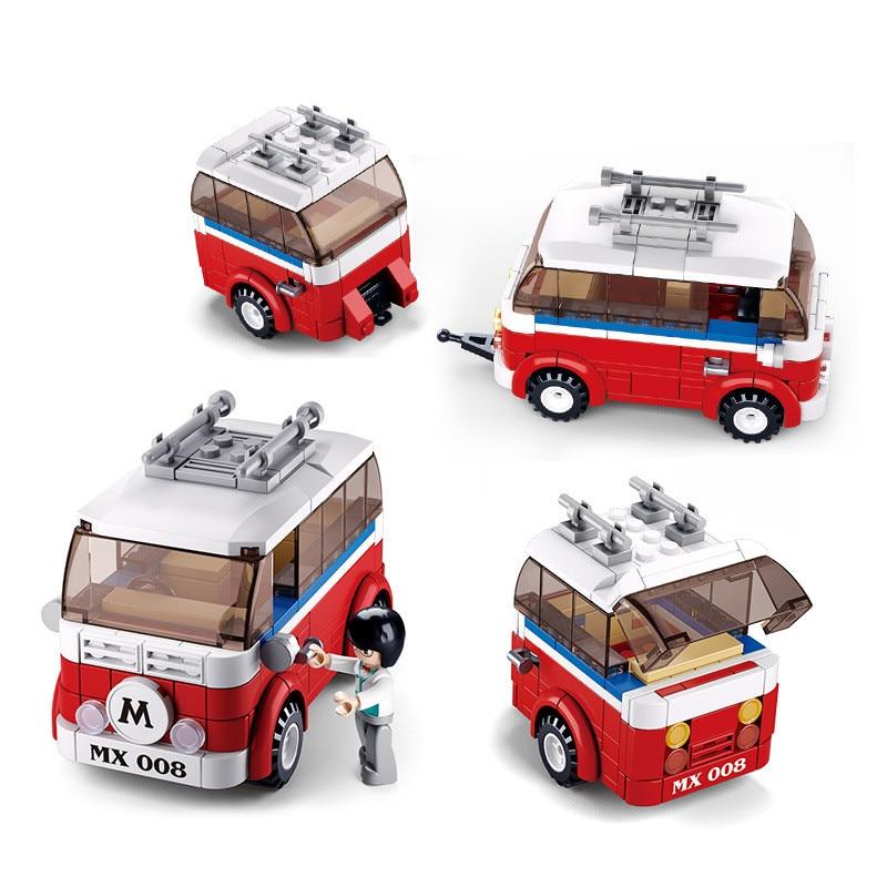 1354pcs Volkswagen T1 Camper Van Car Model Compatible Model Building Blocks DIY