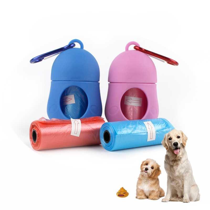 Cane di animale domestico Dispenser Poop Bag Set Sacchetti di Immondizia Titolare Vettore Gatto All'aperto Picker Pooper Scoopers Rifiuti di Origine Animale Strumenti di Pulizia