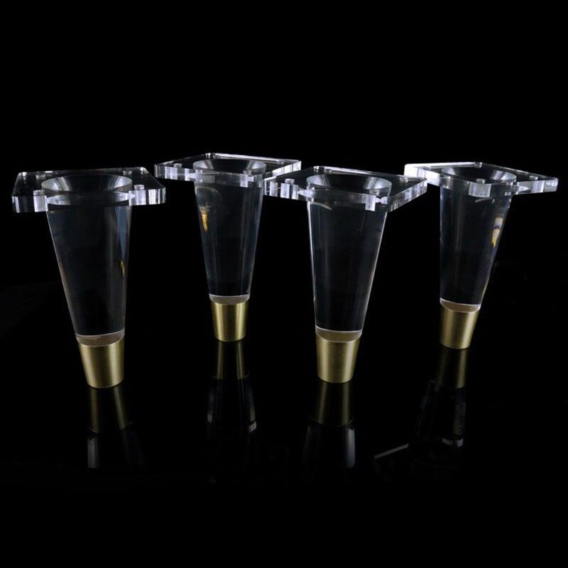 4pcs/lot Acrylic Cabinet Leg Transparent Sofa Leg Clear Furniture Feet Strong Plastic Furniture Holder