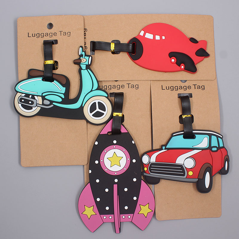 Travel Accessories Creative Luggage Tag Rockets Cute Silica Gel Suitcase ID Addres Holder Baggage Boarding Tags Portable Label