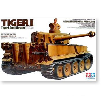 2 4ghz henglong gray german tiger i 1 16 scale rtr rc tank metal tracks wheels 3818 360 degrees rotation turret Tamiya 35227 1/35 Scale WWII German Tiger I Initial Production Tank Display Collectible Toy Plastic Assembly Building Model Kit