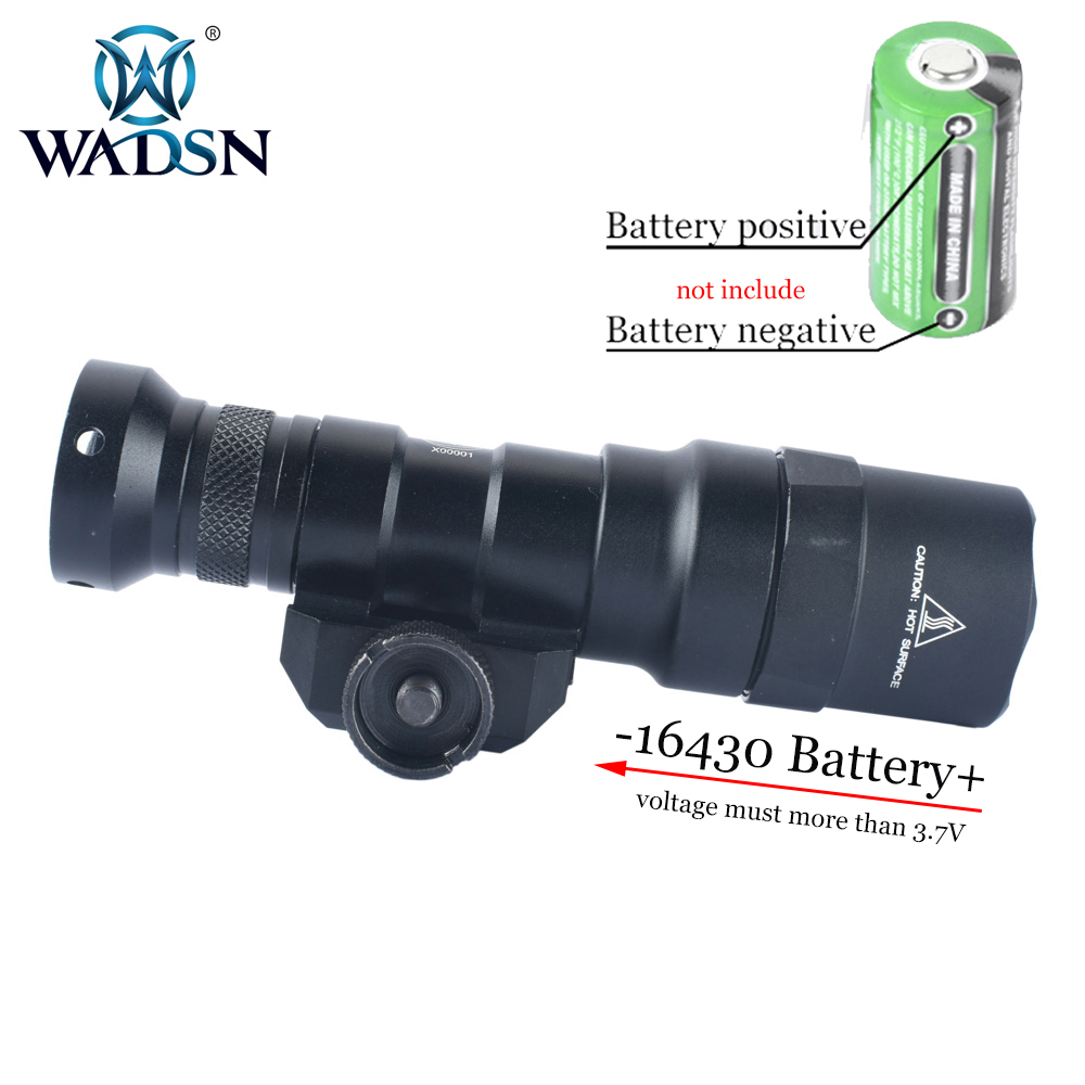 Wadsn tático lanterna m300sf combustível duplo led