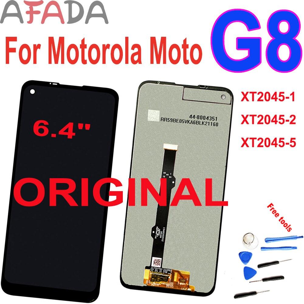 Оригинальный 64 дюймовый ЖК дисплей для motorola moto g8 стандартный