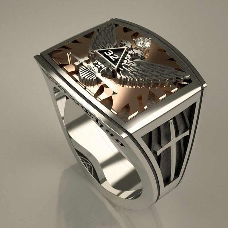 빈티지 이글 남성 다이아몬드 반지 925 스털링 실버 쥬얼리 약혼 웨딩 밴드 반지 moissanite 파티 액세서리