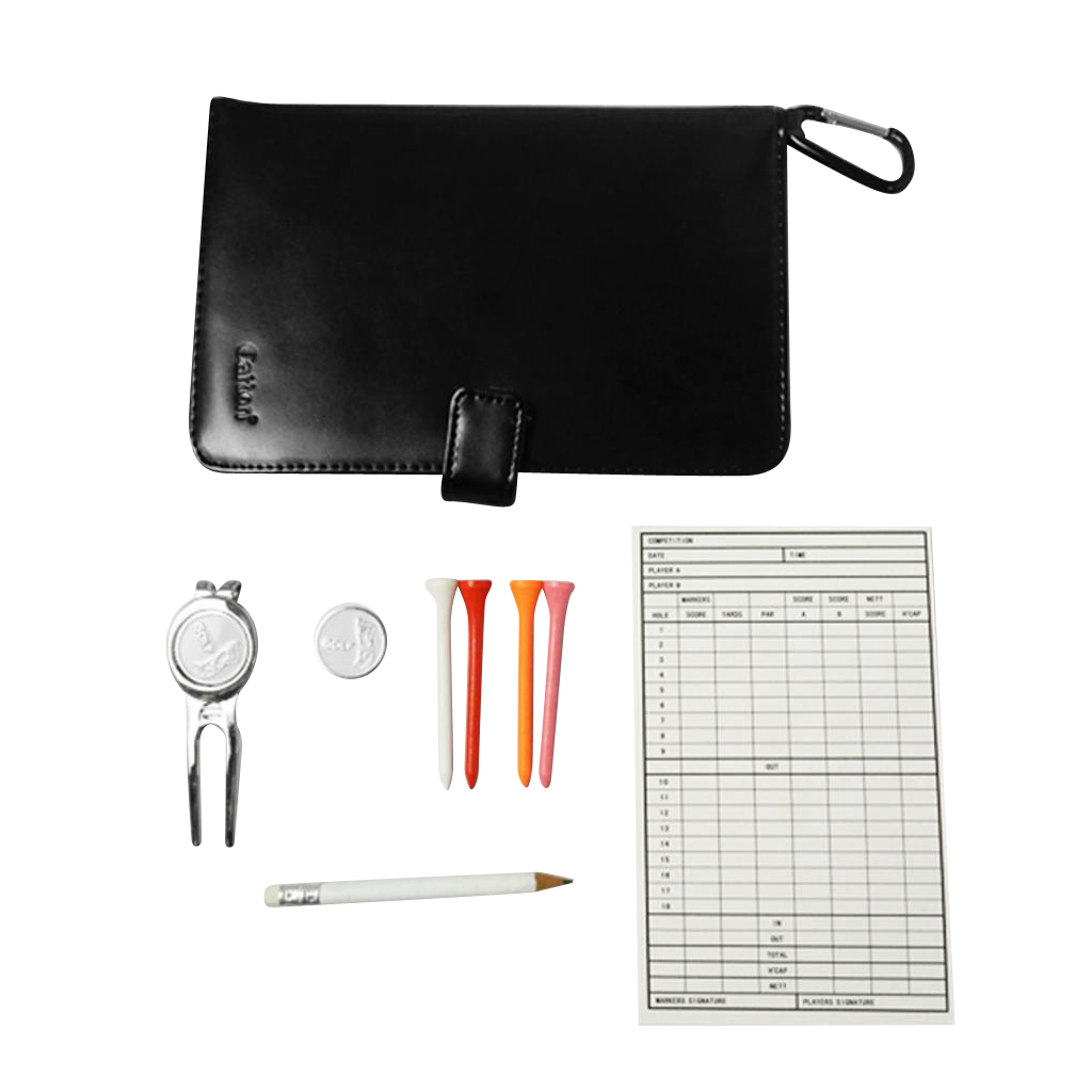 1 Piece Golf Score Card Holder Score Counter Case With Golf Tees