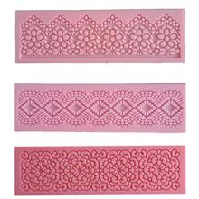 1Pcs Lace Silicone Mold Fondant Cake Mold Chocolate Candy Jello 3D Cake Decoration Tools Pastry Tools Cake Tools