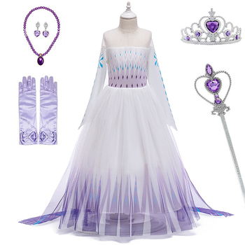 2020 Halloween Princess Girl Wedding Dress Kids Cosplay Dresses Up Children Clothing Costume For 3-12 Years Girls Clothes Set