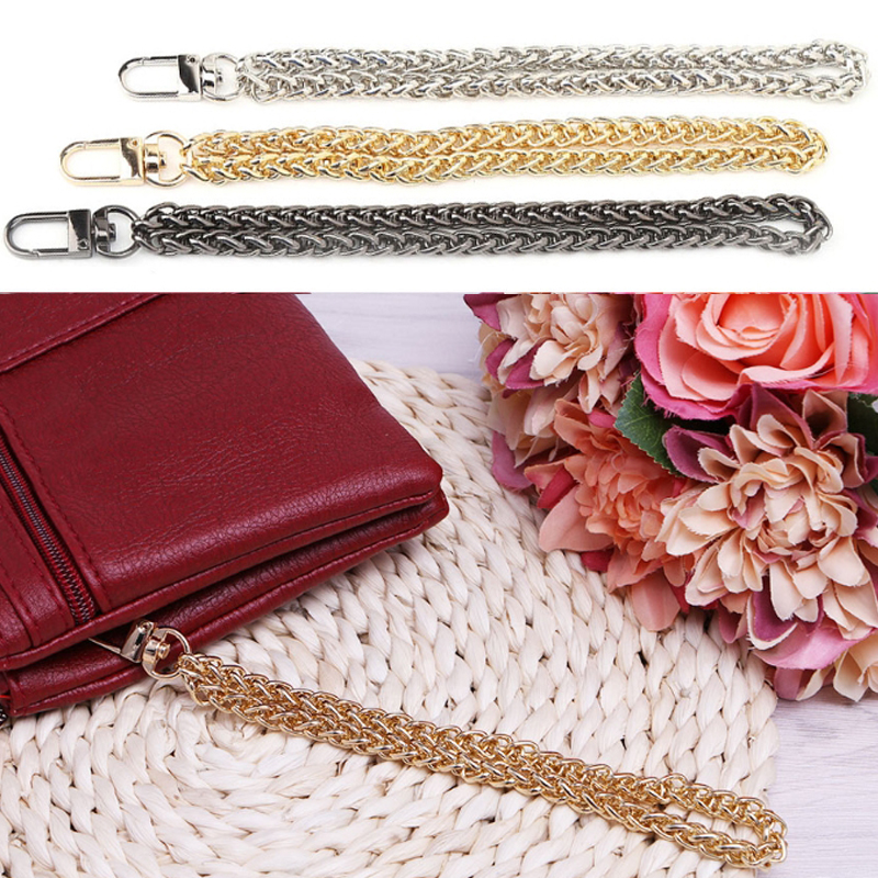 Fashion Women Bag Chain Replacement Wrist Handle Metal Bag Strap Chain Clutch Wristlet Purse Coin Key New Long Bag Accessories