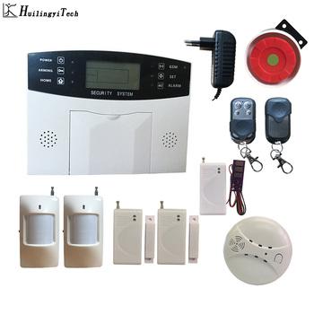 Bezpieczeństwo w domu systemy alarmowe bezpieczeństwo Alarm podjazdu w domu Alarm gsm inteligentne sterowanie w domu systemy alarmowe inteligentny Alarm domowy automatyka tanie i dobre opinie HuilingyiTech Drzwi Okna Czujnik DC9V-12V 110bd 20*12*10 AS005-HT10015 FR Zdalnego kontrolera wireless 4 wired zones and 6 wireless zones