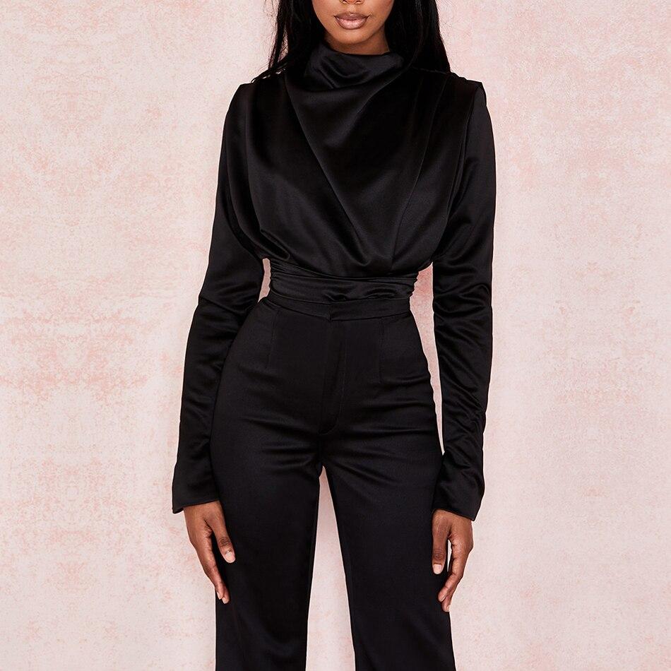 ADYCE 2020 New Summer Women Casual Long Sleeve Black Pink Bodysuit Sexy O Neck Skinny Jumpsuit Romper Fashion One Piece Bodysuit