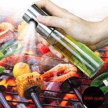 Кухонный распылитель оливкового масла из нержавеющей стали для выпечки, распылитель масла, пустая бутылка для уксуса, диспенсер для масла, для приготовления салата, барбекю, WF713110